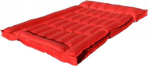 Double Boxed Airbed Rubberised Cotton Heavy Duty Twin Bed