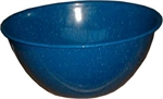 24CM BLUE ENAMEL FINGER BOWL-to eat with-Mitchells Wholesale Supplies